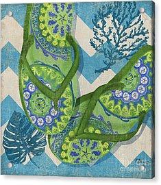 Coastal Flip Flops II Acrylic Print by Paul Brent