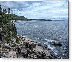 Coastal Landscape From Ocean Path Trail, Acadia National Park Acrylic Print