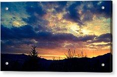 Coastal Mountain Sunrise X Acrylic Print