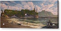 Coastal Paradise Acrylic Print by Mary Almond