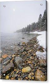 Coastal Snow Acrylic Print by Benjamin Williamson
