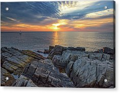 Coastal Sunrise On The Cliffs Acrylic Print