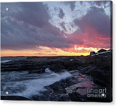 Coastal Sunset Cape Neddick - York Maine  -21056 Acrylic Print
