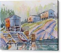 Coastal Village - Newfoundland Acrylic Print
