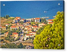Coastal Village On Island Of Pasman Acrylic Print