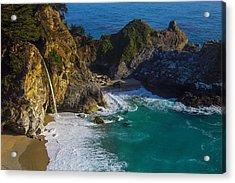 Coastal Waterfall Acrylic Print by Garry Gay