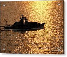 Coastguard Vessel Acrylic Print by Yali Shi