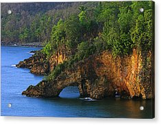 Coastline-ciceron- St Lucia Acrylic Print by Chester Williams