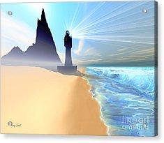 Coastline Acrylic Print by Corey Ford
