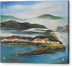 Coastline Acrylic Print by Min Wang