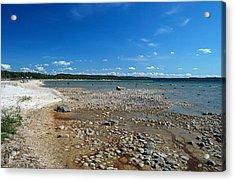 Coastline Of Lake Michigan  Near Petoskey State Park - Little Traverse Bay Acrylic Print by Janice Adomeit