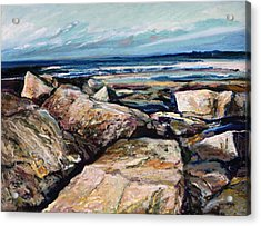 Coast's Edge Acrylic Print by Richard Knox