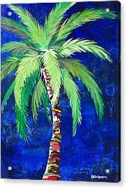 Cobalt Blue Palm II Acrylic Print