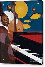 Cobalt Jazz Acrylic Print by Kaaria Mucherera