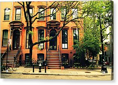 Cobble Hill Brownstones - Brooklyn - New York City Acrylic Print by Vivienne Gucwa