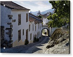 cobbled street Marvao Acrylic Print by Mikehoward Photography