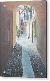 Cobblestone Alley Acrylic Print