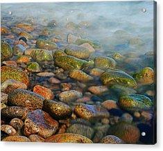 Cobblestone Beach Acrylic Print