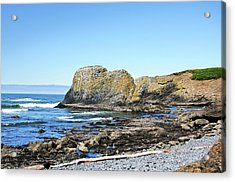 Acrylic Print featuring the photograph Cobblestone Beach by Bryan Carter