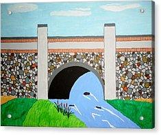 Cobblestone Bridge Acrylic Print by Donald Herrick