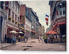 Cobblestone Streets In Old Montreal  Acrylic Print