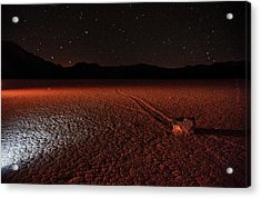 Acrylic Print featuring the photograph Cobblestones On The Racetrack Playa by Peter Thoeny