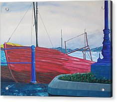 Acrylic Print featuring the painting Cobh Harbor Ireland by Kevin Callahan
