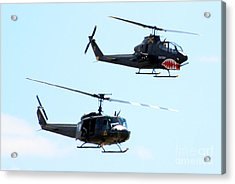 Cobra And Huey Acrylic Print by Larry Keahey