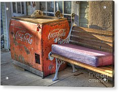 Coca Cola Cooler Back In Time Acrylic Print by Bob Christopher