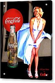 Coca Cola Girl Marilyn Acrylic Print
