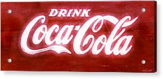 Coca Cola Acrylic Print by Heidi Smith