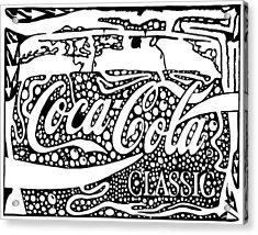 Coca-cola Maze Advertisement  Acrylic Print by Yonatan Frimer Maze Artist