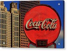 Coca Cola Neon Sign Atlanta Acrylic Print