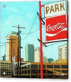 Coca Cola Park Acrylic Print by Linda Apple