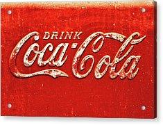 Coca Cola Rustic Acrylic Print by Stephen Anderson