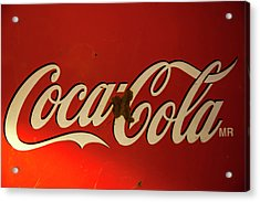 Acrylic Print featuring the photograph Coca-cola Sign  by Toni Hopper