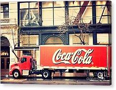 Coca-cola Truck In San Francisco Acrylic Print by Kim Fearheiley