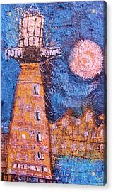 Cock-eyed Lighthouse  Acrylic Print by Anne-Elizabeth Whiteway