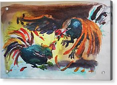 Cock Fight Acrylic Print