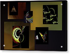 Acrylic Print featuring the digital art Cock Of The Walk by Irma BACKELANT GALLERIES