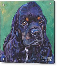 Cocker Spaniel Head Study Acrylic Print by Lee Ann Shepard