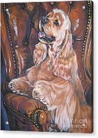 Cocker Spaniel On Chair Acrylic Print by Lee Ann Shepard