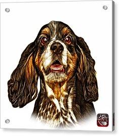 Cocker Spaniel Pop Art - 8249 - Wb Acrylic Print