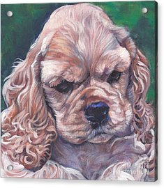 Cocker Spaniel Puppy Acrylic Print by Lee Ann Shepard