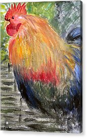 Acrylic Print featuring the painting Cockerel by Barbara Giordano