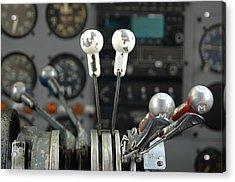 Cockpit Controls Acrylic Print by Dan Holm