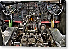 Cockpit Controls Hdr Acrylic Print by Kevin Munro