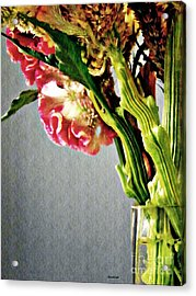 Acrylic Print featuring the photograph Cockscomb Bouquet 5 by Sarah Loft