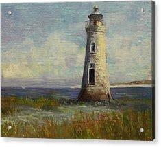 Cockspur Island Lighthouse Acrylic Print by Nora Sallows