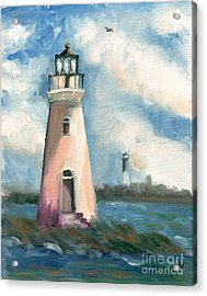 Cockspur Lighthouse At Fort Pulaski Acrylic Print